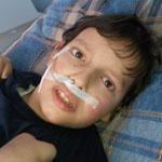 Bence 10 éves beteg kisfiú